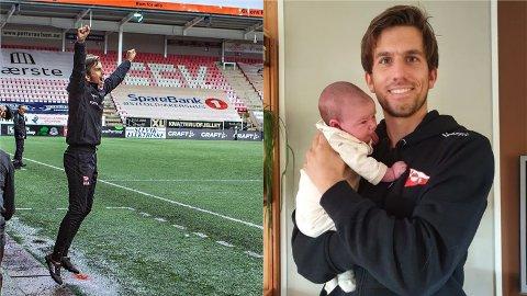 Magnus Meling har fått mye å juble for de siste dagene. Først ble han pappa til lille Ingeborg, så sikret hans Fredrikstad FK opprykk til 1. divisjon.