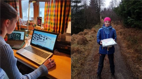 Anna Taksdal (15) fikk prøve seg som karttegner i en uke.