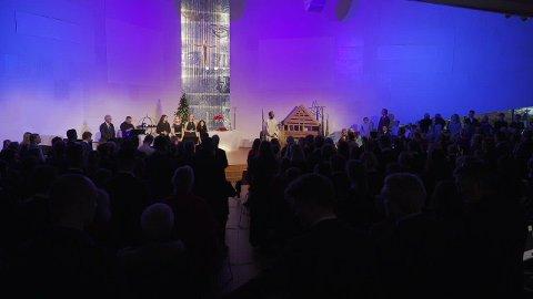 Ålgård kirke fylt til randen under én av tre julegudstjenester på julaften i fjor.