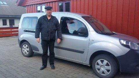Tor Bjørn Hølland har kjørt el-varebil de siste fem årene.