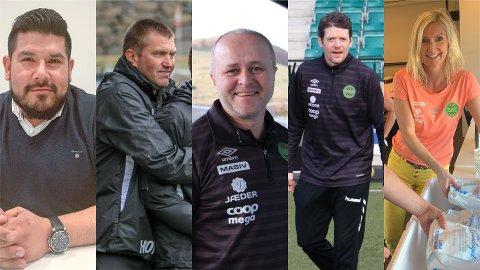 Trenerutvalget som skal finne ny trener til A-laget. Fra venstre: Einar Auestad, Hans Olav Frette, Terje Tjetland, Frank Szanto og Liv Kommedal.