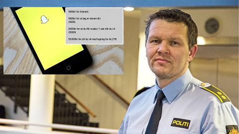 Oddgeir Høyekvam, som jobber innenfor politiets Operasjon Spiderweb, sier til Jærbladet at deling av seksuelt materiale mot betaling ser ut til å ha blitt en trend.