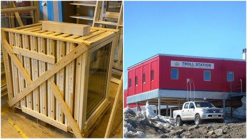 De ti vinduene til høyre skal leveres til forskningsstasjonen Troll på Antarktis.
