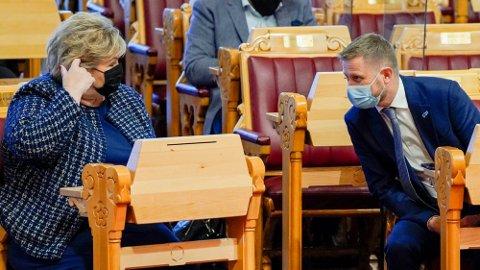 Statsminister Erna Solberg og helseminister Bent Høie.