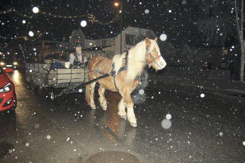 Å kjøre hest med vogn var, som alltid, utrolig populært blant de minste.