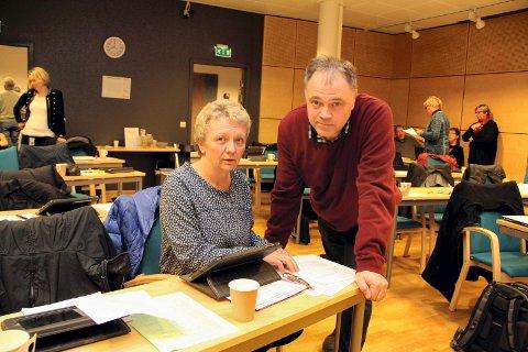 FLERTALL: Sigrun Kristoffersen (SV) og Knut Hvithammer (Ap) fikk knappest mulig flertall for å utsette nedleggelse av tre grendeskoler i Sør-Odal. FOTO: LARS FOGELSTRAND