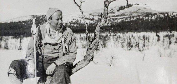 1: Min onkel, Ole Eggum, på skitur en gang på 1950-tallet.