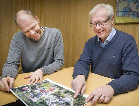 OPTIMISTER: Kommunalsjef samfunn Rune Lund (t.v.) og ordfører Øystein Østgaard mener Kongsvinger er en sterk kandidat.