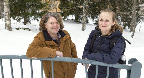 NYKOMMERE: Miljøpartiet De Grønne er klar for kommunevalget. Øystein Hanevik (til venstre) og Hanna Gjermundrød er toppkandidater i henholdsvis Kongsvinger og Sør-Odal.  FOTO: OLE-JOHNNY MYHRVOLD