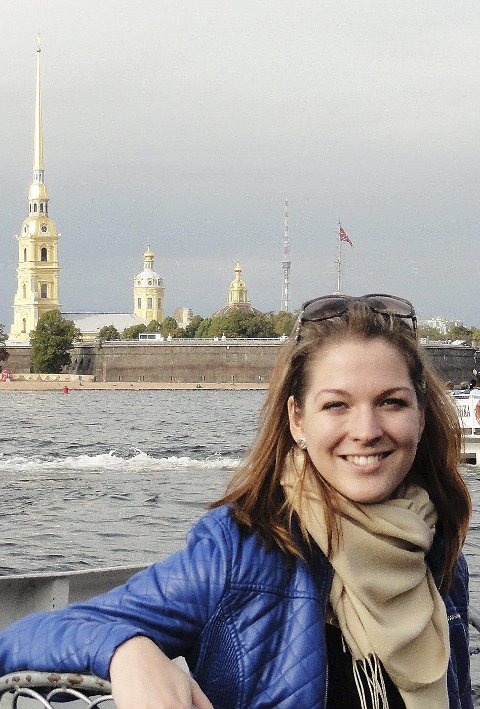 PÅ BRATSJ: Masterstudent Elina Lilinsteine Cenkure fra St. Petersburg. FOTO: Privat