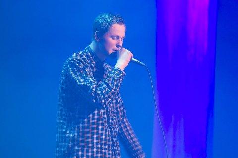 3.A.M: Odin Noer Johansen er en rapper vi trolig vil se mer til, han tolket Eminems «3.A.M» på en veldig overbevisende måte. FOTO: KJELL R. HERMANSEN