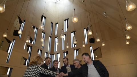 TRENGER LITT MER: Det trengs fem millioner kroner ekstra til fullføring av den nye Våler-kirken. (Foto: Sverre Viggen)