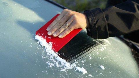 KALDERE: Mandag og tirsdag måtte mange morgenfugler skrape bilrutene. Det kan skje igjen nå.