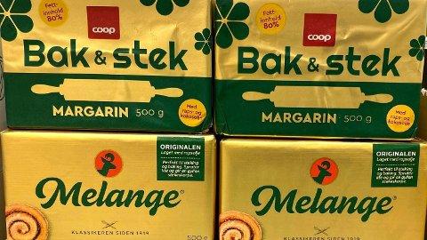 FOR LIKE: Næringslivets konkurranseutvalg mener disse to produktene er for like, og at Coop har brutt markedsføringslovens paragraf 30. Foto: Nina Lorvik (Mediehuset Nettavisen)