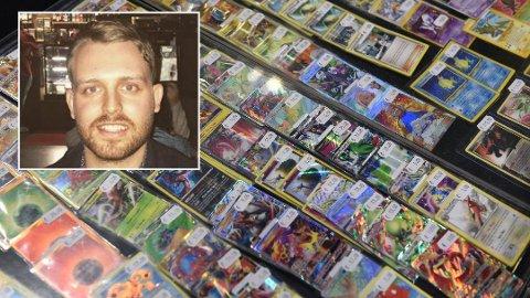 Stor verdi: Interessen for Pokémon-kort har tatt helt av den siste tiden. Alexander Golten (28) har kjøpt slike kort som en langsiktig investering. Kortene på dette bildet er fra en messe i London i 2017. Foto: Getty Images/privat