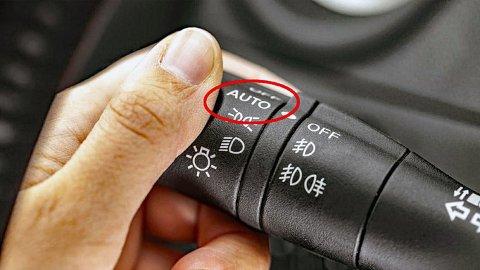 Her skal du vite hva du gjør, hvis ikke risikerer du å kjøre rundt med feil lys.