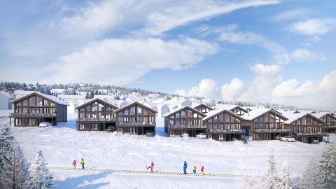 REVET VEKK: Det tok fem dager å selge de 18 første hyttene i dette Fundamentgruppens prosjekt Mountain Chalet.