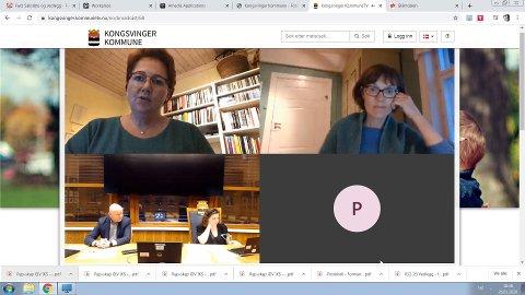 NETT-MØTE: Kongsvinger-politikerne skal fortsette med digitale møter helt fram til sommerferien. Men nå har formannskapet opphevet den lokale forskriften om maksimalt fem deltakere i sosiale sammenkomster.