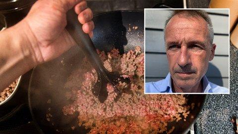 FRUSTRERT: Anders Nordstad er frustrert over at det skal være så vanskelig å få kjøpt norsk kjøtt i norske matvarebutikker. Foto: Gorm Kallestad (NTB scanpix)