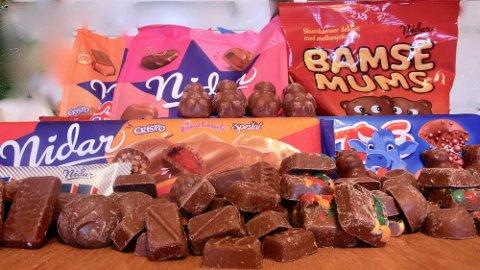 VIKTIG Å VÆRE PRISBEVISST: Det kan være hundrevis av kroner å spare ved å unngå sjokoladebarer og sjokoladebarer. Foto: Lena-Christin Kalle.