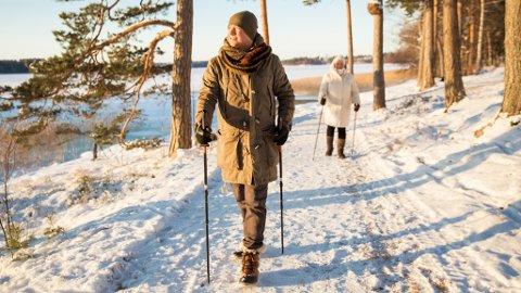 GOD TRENING: Å gå er absolutt god trening - det kan til og med være den aller beste. Men du må ta i litt.