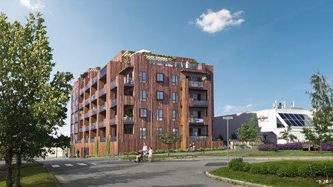 Snart bygging: Glommengata 3 er kun noen siste avklaringer innen byggestart-vedtak, etter at det er solgt seks nye leiligheter de siste par ukene..