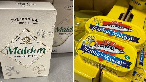 STOR FORSKJELL: Du kan tape hundrevis på å velge feil pakningsstørrelse. Maldonsalt og Makrell i tomat fra Stabburet er blant varene det er store prisforskjeller på. Foto: Nina Lorvik (Mediehuset Nettavisen)