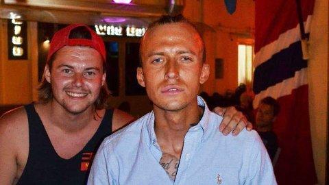 Ronny Helmersen (til venstre) ble kjent med de nå dømte realityprofilen Carl Aksel Jansen (til høyre) på Kos i Hellas, der Jansen jobbet i Helmersens bar.