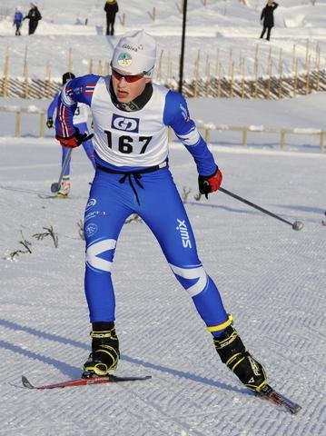 ACTION: 13-åringen Vinjar Berland fra Lillehammer SK.