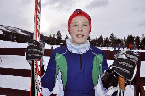 FORNØYD: Bjørn Lindvik Stubrud fra Søre Ål IL sikret seg KM-gull på sprinten lørdag og andreplass i GD-cupen søndag.