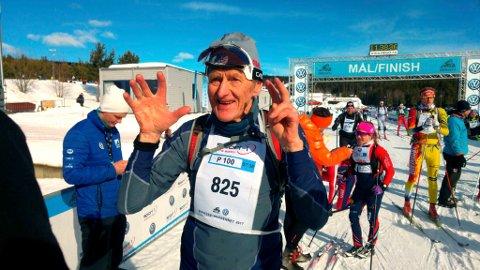 SPREK TYPE: Åge Ludvigsen gikk inn på tiden 04.04.37.