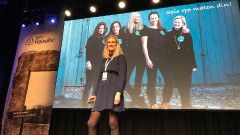 Sophie Wiik tok med seg ideen om Too Good To Go til Norge. Nå har en kvart million nordmenn lastet ned appen. Det fortalte hun om foran reiselivs-Norge denne uka.
