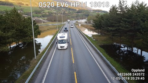 E6 er nå åpen for vanlig biltrafikk igjen ved Fåvang.
