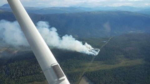 Skogbrannen mellom Sel og Lalm 11. juli 2018 la omlag ødela omlag fem mål med skog. Brannen startet trolig i selve høgspentlinjen og spredte seg til terrenget under.