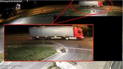 DENNE: Har du sett en slik lastebil i Lillehammer natt til 4. september eller andre steder etterpå? Da ønsker politiet kontakt med deg.