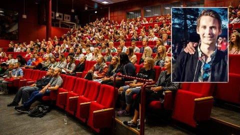 TRIVSELSTILTAK: Fadderopplegget ved Høgskolen i Innlandet er en del av arbeidet for å gjøre studiestarten til en positiv opplevelse. Ruben Skatvedt Nielsen (innfelt) slapp å bekymre seg for sosial tilhørighet da bestekameraten fra barndommen dukket opp på samme studie.