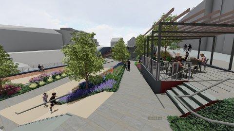 Terrassen skal være universelt utformet slik at alle skal ha tilgang til hele uteområdet.