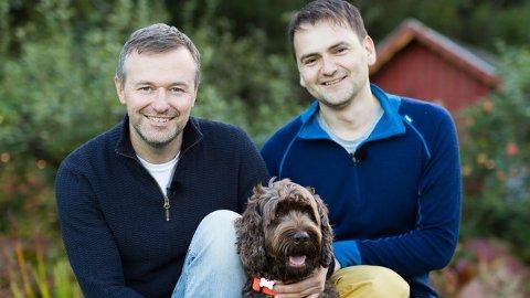 """Morten Loe Welde, som opprinnelig er fra Otta, og samboeren Amar Ahmethodzic Medo skal være med i """"Fra bølle til bestevenn"""" på NRK over nyttår. Der får hundeeiere gode råd for å endre problematferd hos hunder."""