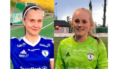Amalie Rød scoret, og Beate Engeli (t.h.) holdt nullen i spillernes siste kamp for LKFKs A-lag i denne omgang.