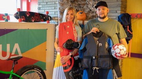 Per Raymon Løland og Linda Skansberg Torstensen ønsker velkommen til BUA Ringsaker.