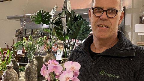 Opptur: Eier av Hageland Arnt Erik Andreassen er fornøyd med omsetningen den siste måneden.