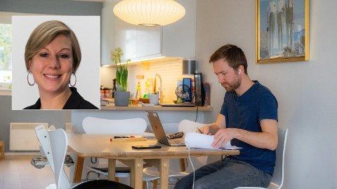 ØKT RISIKO: - Vi er som regel ikke sikret på samme måte som på den fysiske arbeidsplassen, og it-folkene er lenger unna, sier seniorrådgiver Trude Talberg-Furulund i NorSIS om sikkerhetsaspektet ved hjemmekontor.