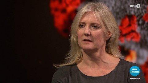 MYE OPPMERKSOMHET: Det ble mye oppstyr etter at Gunhild Alvik Nyborg deltok i «Debatten» på NRK for et år siden. Hun har fortsatt samme standpunkt og har også fått mange støttespillere.