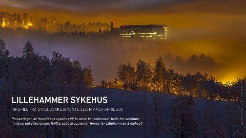 BRUKT INTENST: Slik ser forsiden ut på kampanjefolderen til Lillehammeraksjonen. Den var i intens bruk på oppløpet av sykehusprosessen.