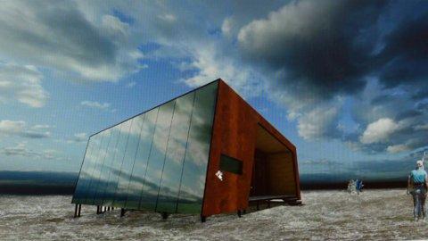 Norconsult har foreslått at Viewpoint i Rondane skal se slik ut, men nå blir hele prosjektet nedskalert.