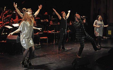 Imponerer: Sterke solister fyller musikalkvelden med mange flotte numre.Foto: Annika Birkelund
