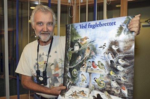 Fuglevenn: Even Dehli, leder i Hadeland fugleforening, oppfordrer folk til å delta i årets hagefugltelling førstkommende helg.