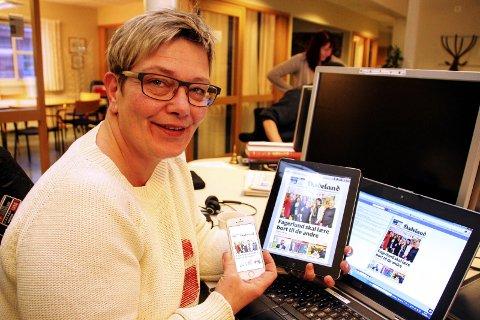 - Du kan lese Hadeland på både mobil, nettbrett og pc, sier redaktør Sissel Skjervum Bjerkehagen.