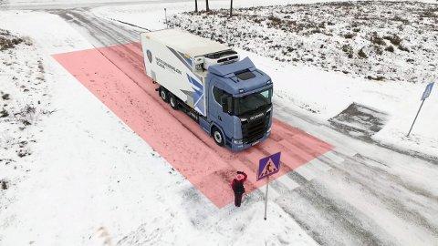 Blindsone på en lastebil