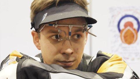 GULL: Øyvind Solbrekken Flatla tok hjem NM-gullet på 10 meter luftrifle.